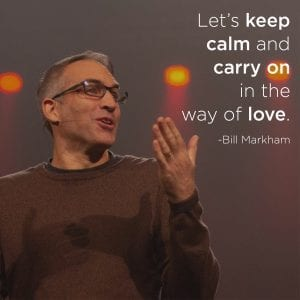 Let's keep calm and carry on in the way of love.